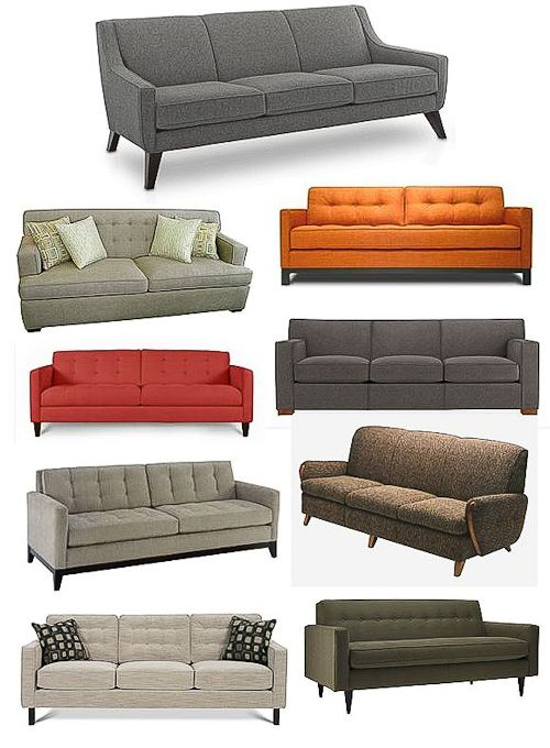 The perfect sofa is a mid-century modern sofa.  None of this over stuffed, pleather crap in my house.
