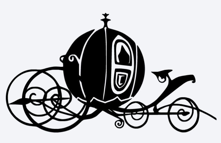 Cinderella carriage silhouette clipart - ClipartFest