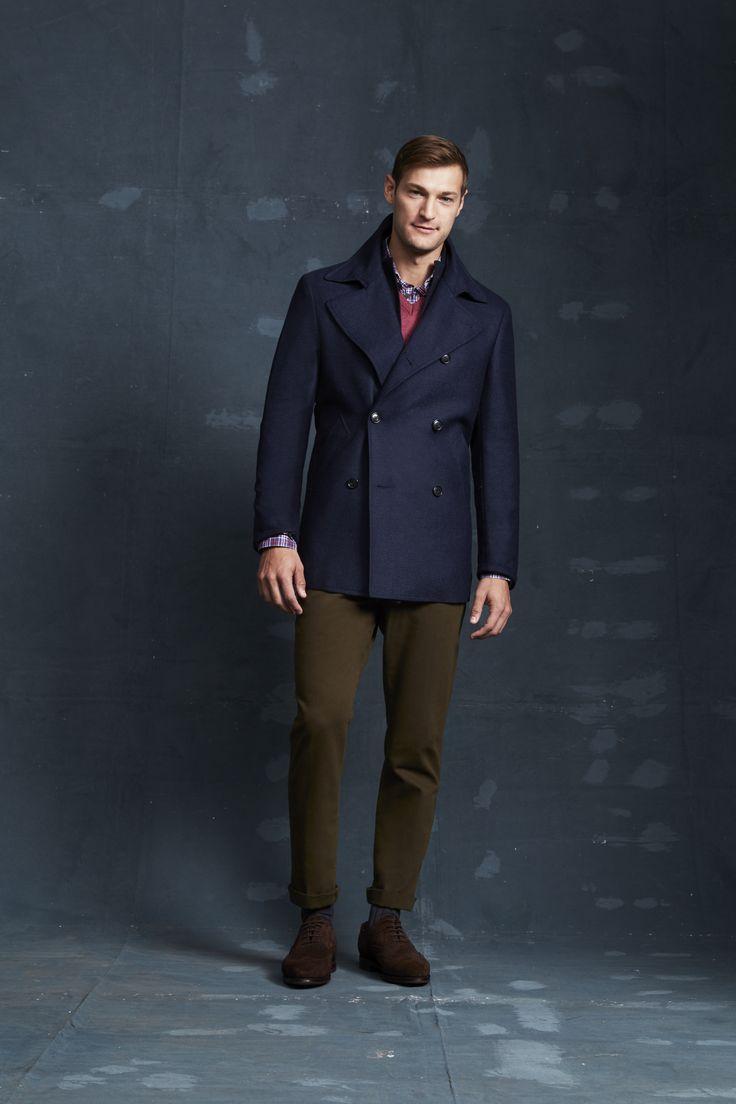 Penrose Navy Coat; Dillenger Navy Jacket; Rosewood Newcombe Knit; Sedaris Navy Shirt; Sedaris Navy Shirt.