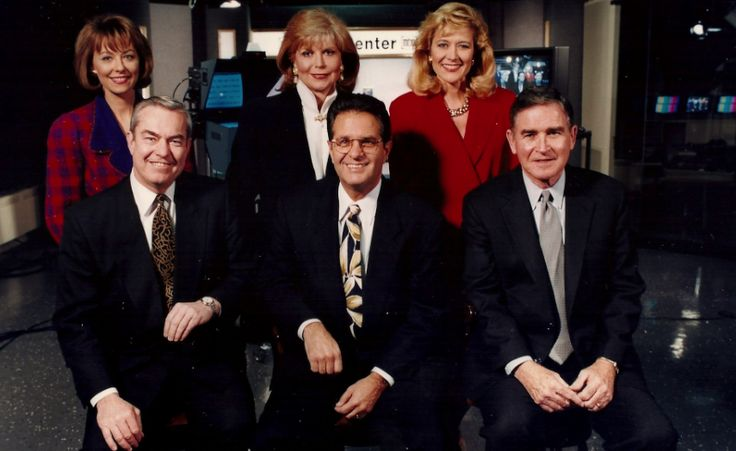 Anchor for the Ages: Linda MacLennan, Bill Kurtis, Carol Marin, Ron Magers, Mary Ann Childers and John Drury (photo fr the front page of the Chicago Sun-Times, 7th of May, 1993)