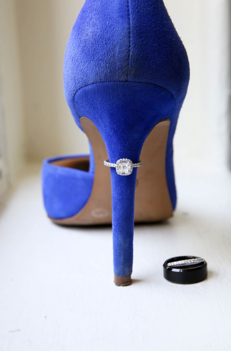 Something old, something new, something borrowed and something BLUE! This wedding ring picture says it all! Great job Elizabeth Looney Photography for an awesome image! Click the image for more information.