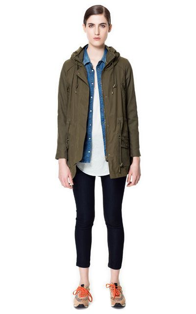 PARKA WITH COLLAR ENCLOSURE from Zara