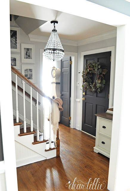 Dear Lillie: dining room--painting the inside of the front door black.