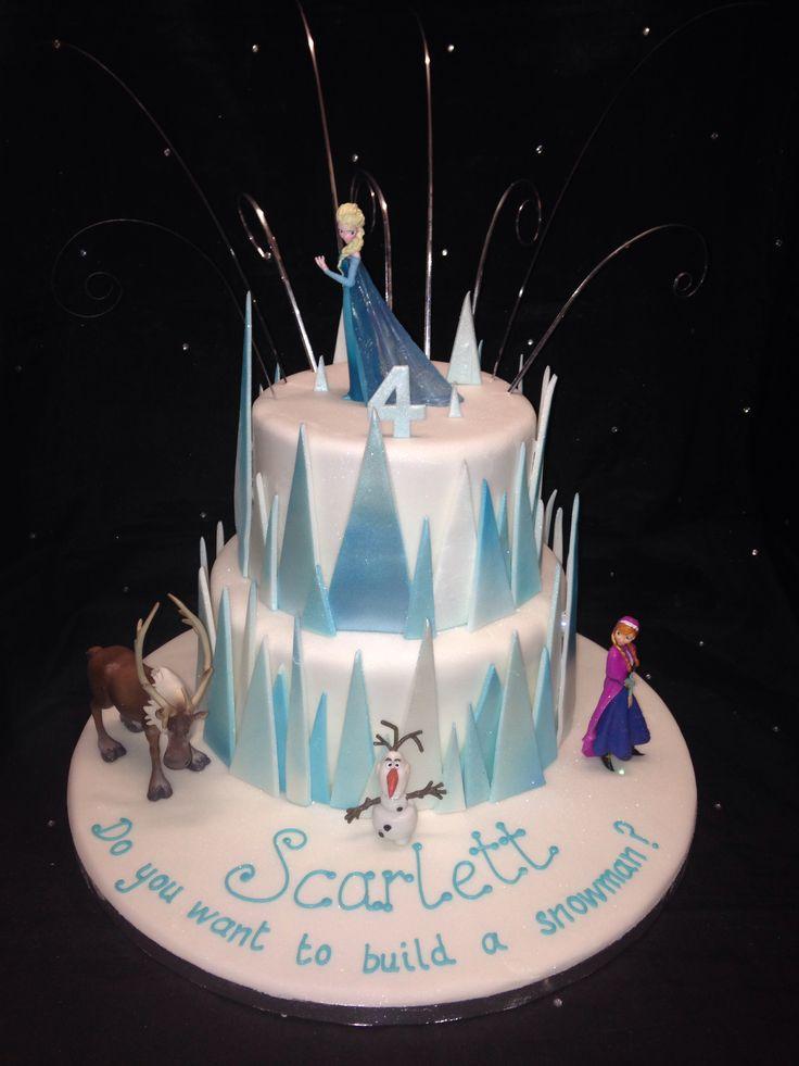 Disney Frozen cake @Andrea Stewart pretty cool huh
