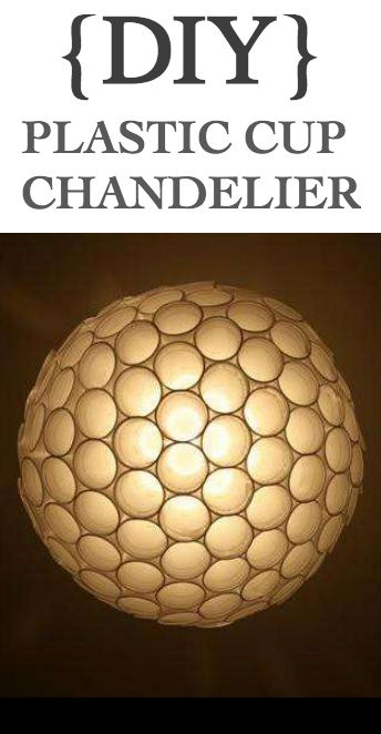 {DIY} Plastic Cup Chandelier via KosherStreet