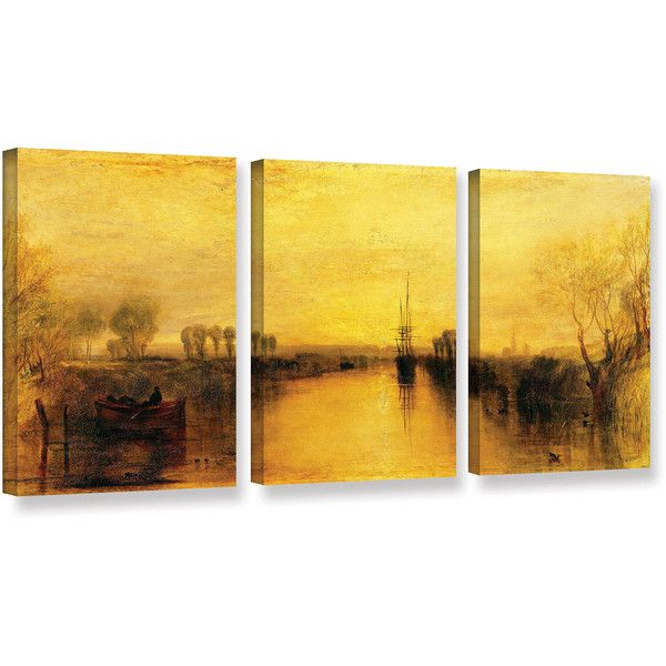 3 Piece Canvas Wall Art Sets.Petals 3piece Canvas Wall. Hand Painted ...
