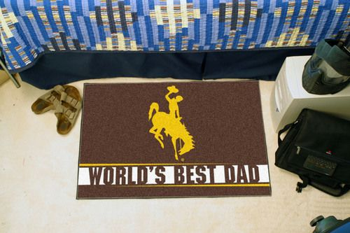 "Wyoming Cowboys World's Best Dad Starter Area Rug Floor Mat 20"""" X 30"""""