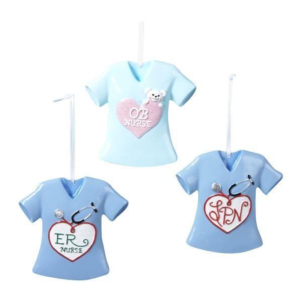 OB, LPN And ER Nurse T-Shirt Ornaments
