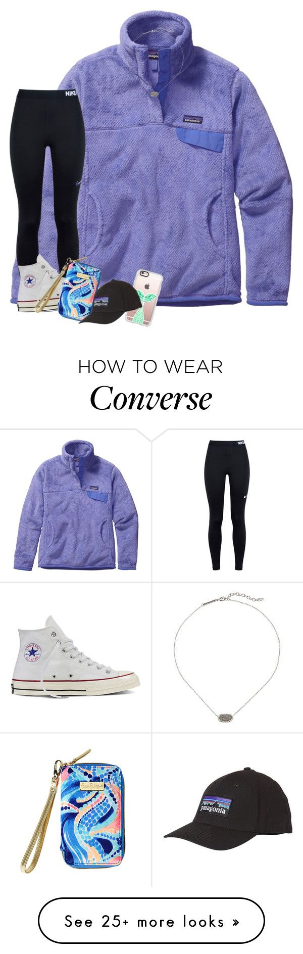 """""""went to the lilly store for the first time last week and got this wristlet!!"""" by morganmestan on Polyvore featuring Patagonia, NIKE, Converse, Lilly Pulitzer, Kendra Scott and Casetify"""
