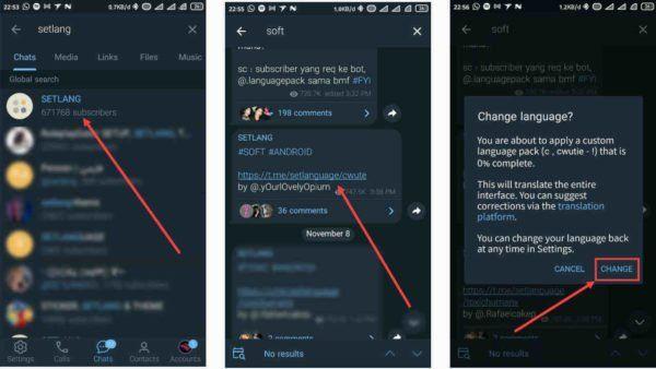 Cara Mengubah Setlang Di Telegram Mengubah Bahasa Custom Di 2021 Bahasa Lucu