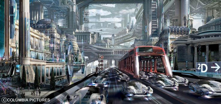 A mass of roads, all delicately controlled by a master computer systems, eliminating any stress from the daily commute.