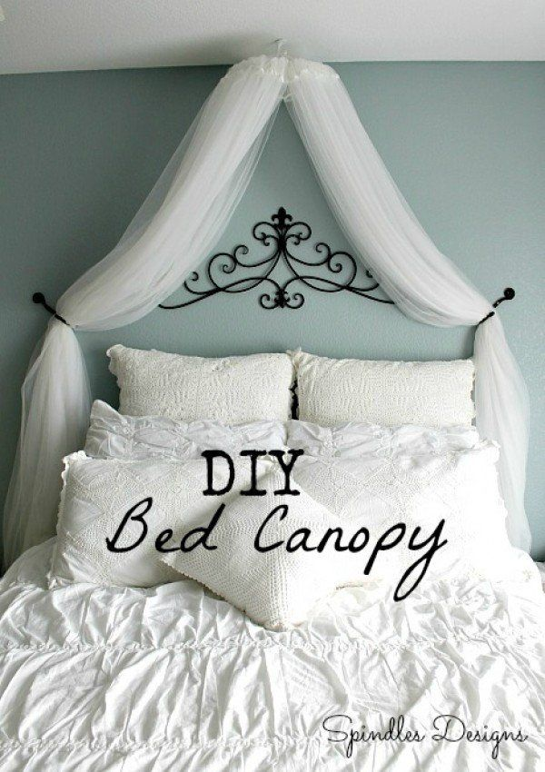 Check out how to make an easy DIY bed canopy @istandarddesign