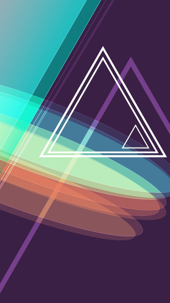 Geometric  Abstract  Triangles  Pyramids  Shapes  Colorful  720x1280 Wallpaper