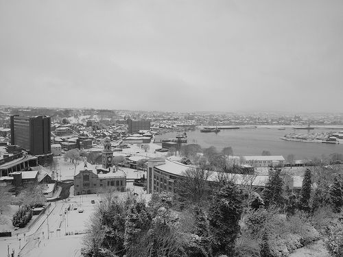 A view down into Chatham town centre from Belvedere Heights Fort Amherst [shared]