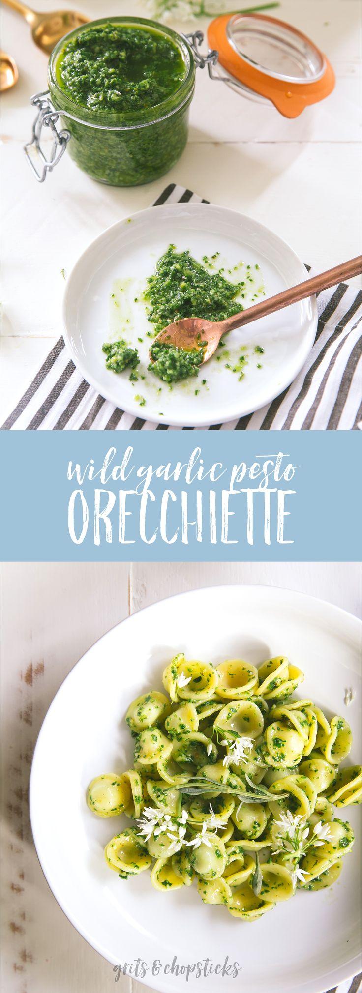 Use Seasonal Spring Ingredients To Make This Wild Garlic Pesto Orecchiette  (or Use Ramps If