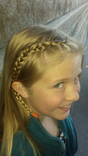 Side braid fully revealed