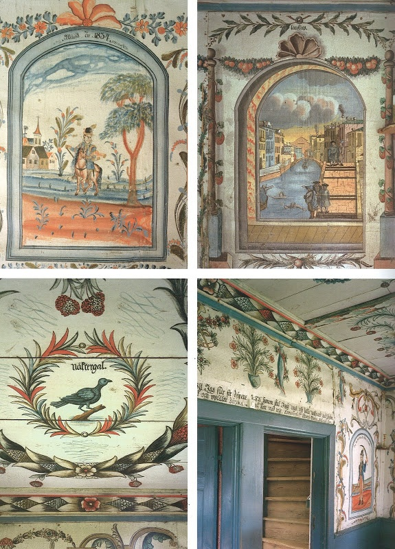 Wonderful examples of Swedish painted murals.