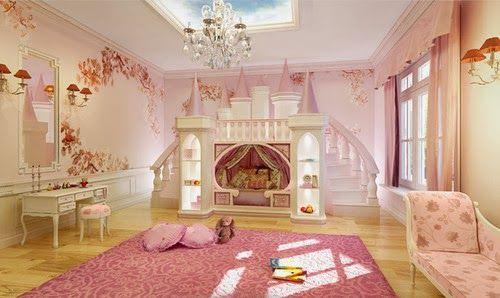 of diy castle bookcase  Chambre De Princesse Décor Pour Les Filles4
