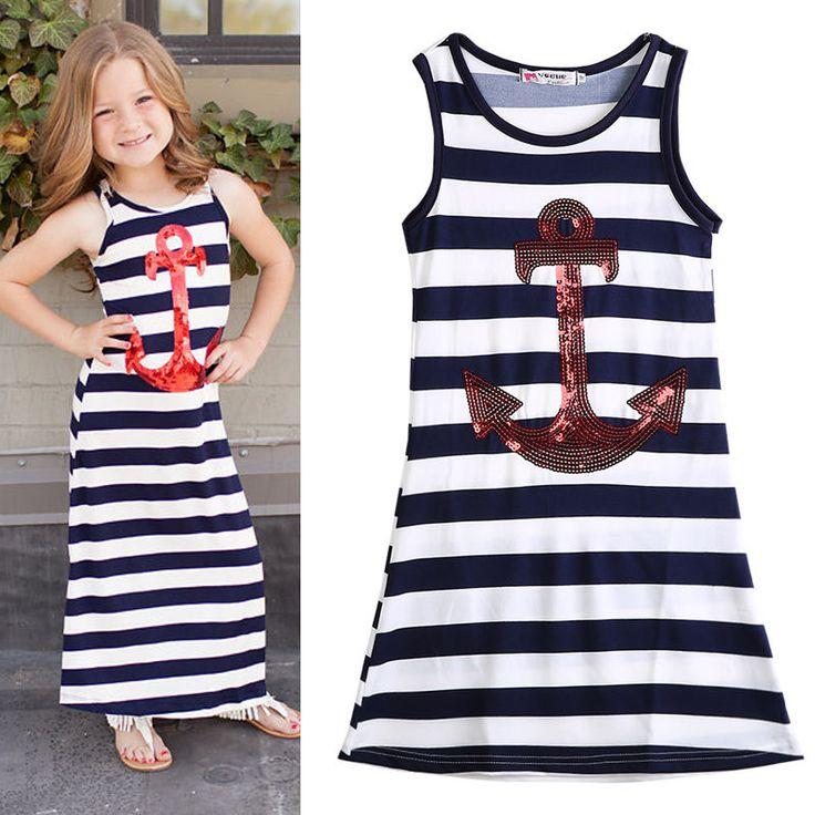 $4.18 (Buy here: https://alitems.com/g/1e8d114494ebda23ff8b16525dc3e8/?i=5&ulp=https%3A%2F%2Fwww.aliexpress.com%2Fitem%2FToddler-Kids-Girls-Dress-Sequin-Anchor-Maxi-Long-Beach-Dress-Striped-Boho-Sundress-Sleeveless-Summer-Dress%2F32714458617.html ) Toddler Kids Girls Dress Sequin Anchor Maxi Long Beach Dress Striped Boho Sundress Sleeveless Summer Dress for just $4.18