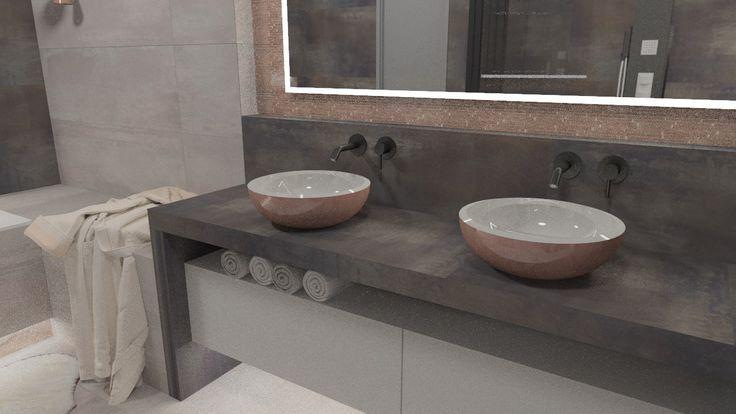 luxury copper bathroom