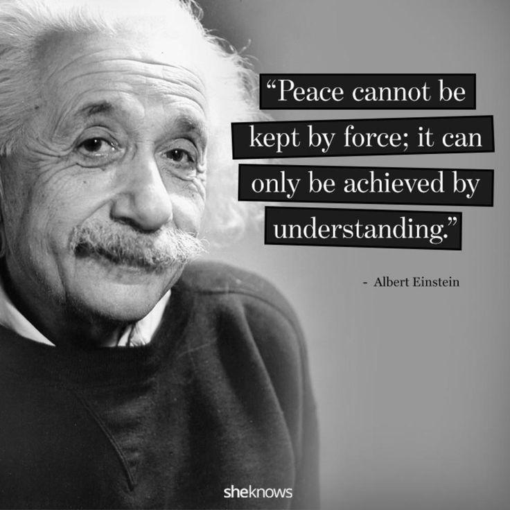The world needs peace.
