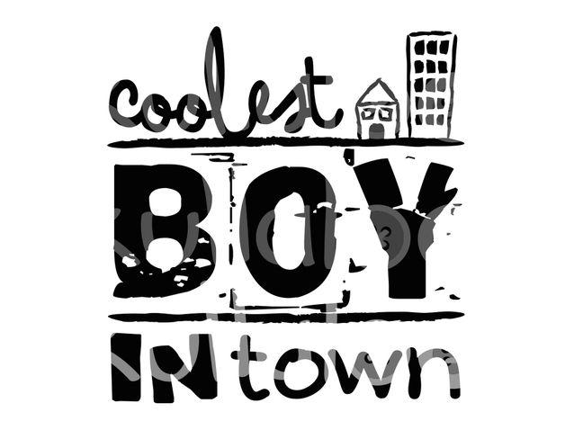 Weiteres - Plotterdatei SVG, DXF - Coolest Boy in Town - ein Designerstück von kullaloo bei DaWanda