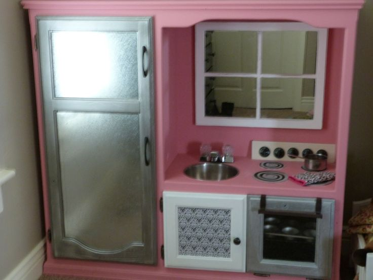 115 best images about playhouse ideas for grace on pinterest for Playhouse kitchen ideas