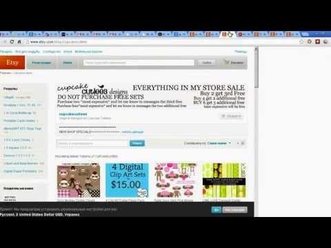 Etsy Как заработать на Etsy 5000$ в месяц:заработать из дома $