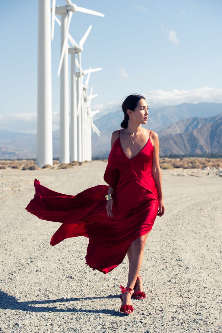 Nicole Warne of lifestyle blog, Gary Pepper Girl, was seeing red in this eye-catching red silk dress in her feature on The Coveteur.