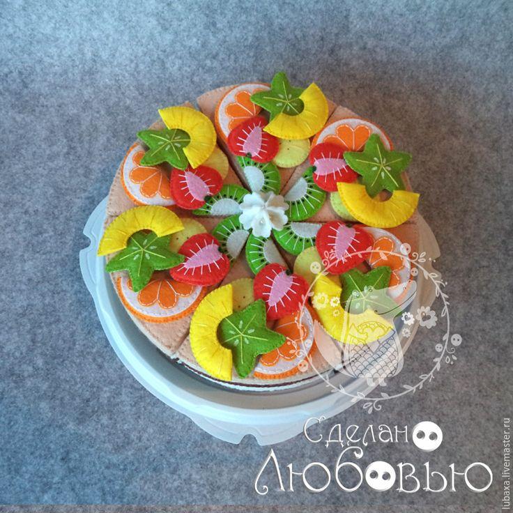 Готовим фруктовый торт-конструктор из фетра для детей - Ярмарка Мастеров - ручная работа, handmade