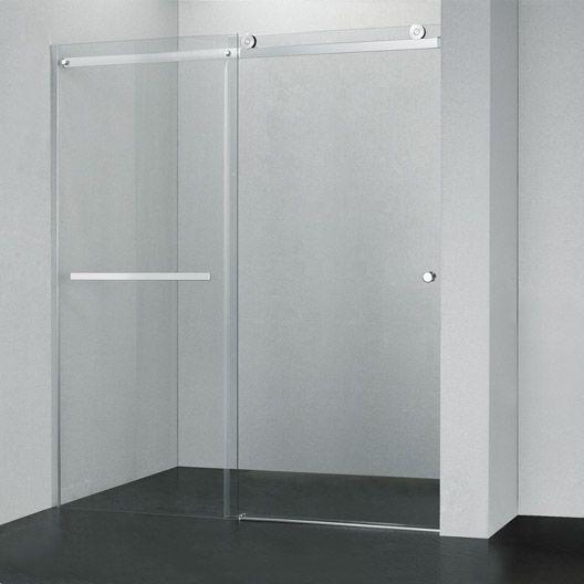 17 best ideas about porte de douche coulissante on pinterest porte douche - Porte coulissante verre trempe leroy merlin ...