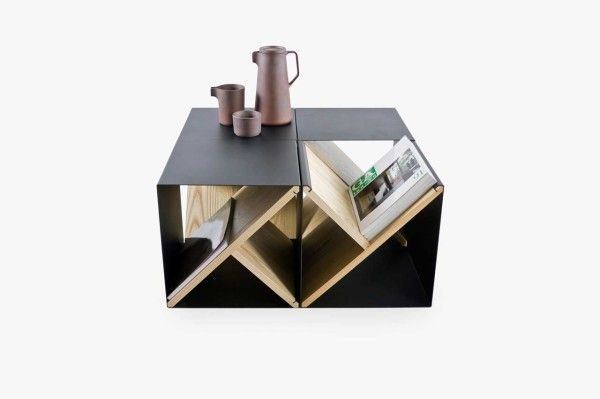 The Steel Stool in multiples now becomes coffee table