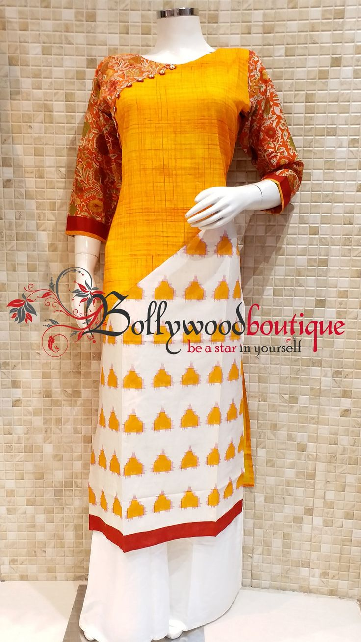 Designer Kurti 59 Fabric : Cotton. Color : Multi Color Yellow. Style : Designer Long Kurti. Product Details : Designer long kurti ideal for everyday use as well as small get together. Batik printed designer long kurti. Price : Rs: 1580 / –