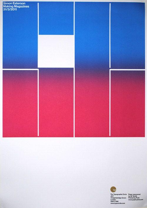 Typographic Circle Poster, Simon Esterson
