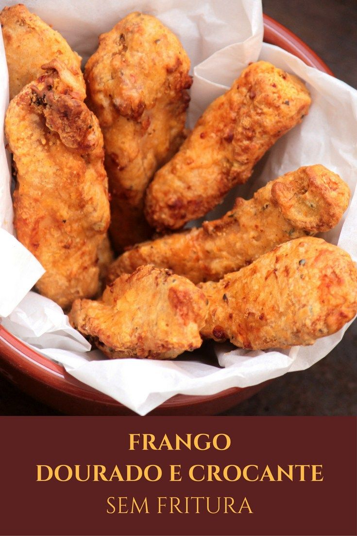 Confira a receita desse delicioso frango que fica dourado e crocante, mas é feito sem fritura. O preparo dele é feito na Airfryer.