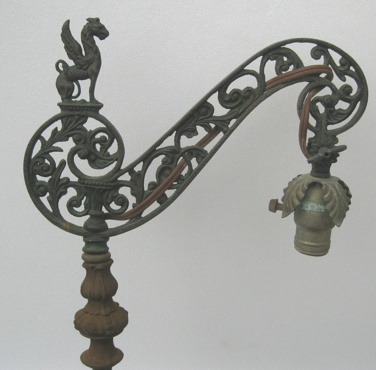 Victorian Bridge Floor Pole Lamp W Griffin Finial