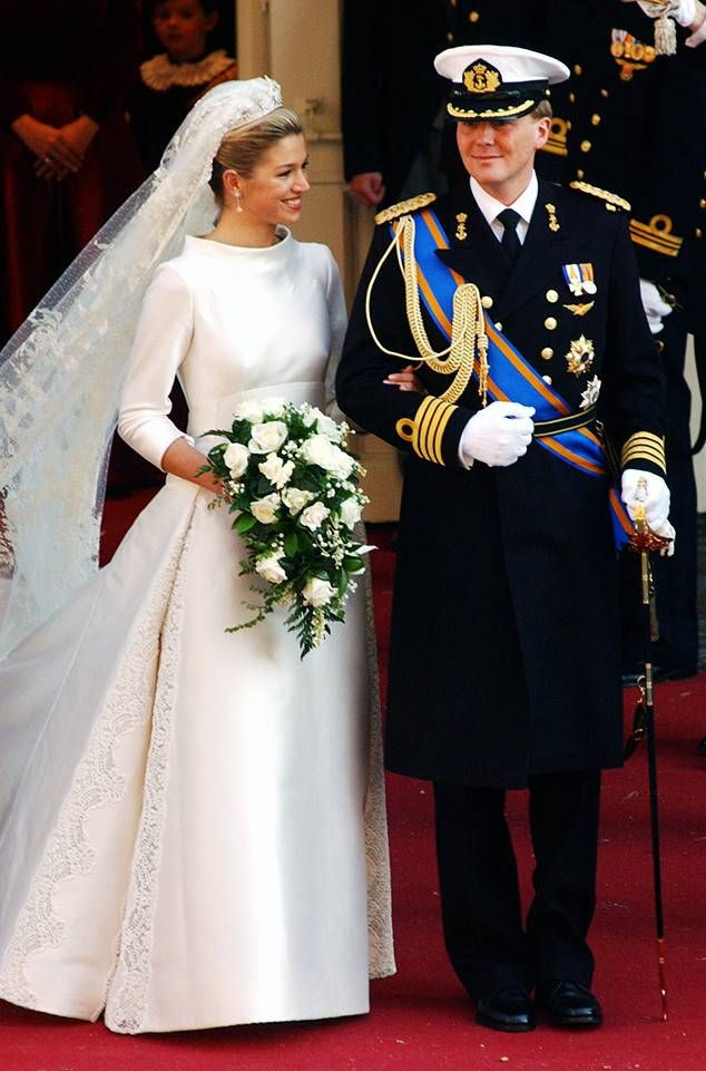 Princess Maxima Of The Netherlands From The Best Royal Wedding Dresses Of All Time Royal Wedding Dress Royal Brides Royal Wedding Gowns