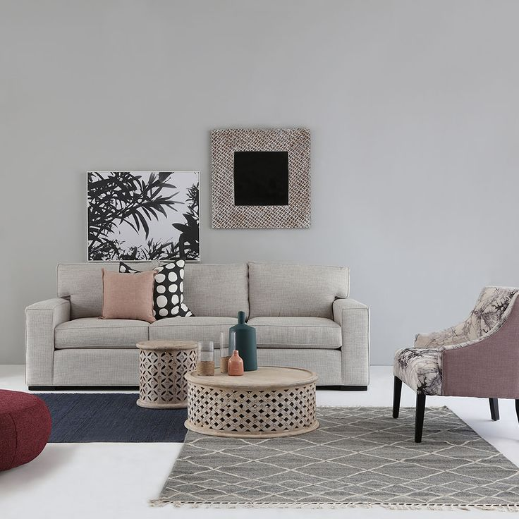 Australian made ASHTON dressed with our BAGRU coffee & side table. So Stylish. #interiorsdesign #stylish #livingroom #Australianmade