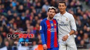PES 2017 El Clasico (Ronaldo and Messi) Start Screen
