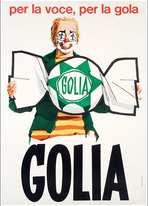 Pubblicità Caramelle Golia con Scaramacai anni '60