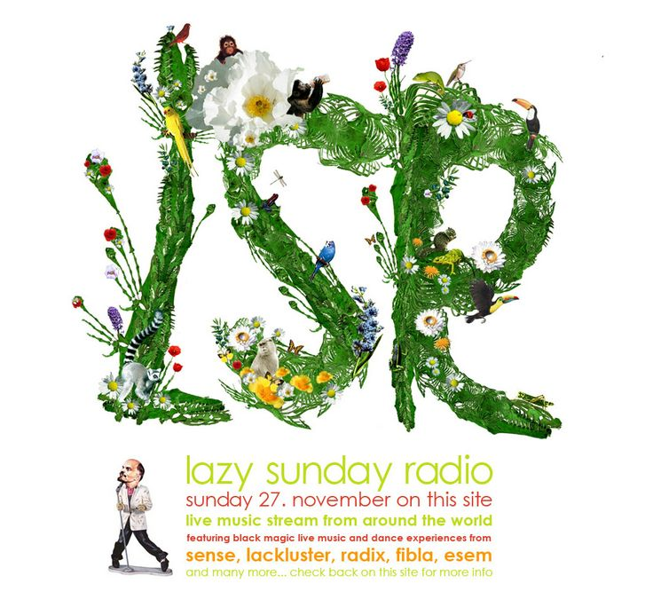 Typographic artwork for Lazy Sunday Radio