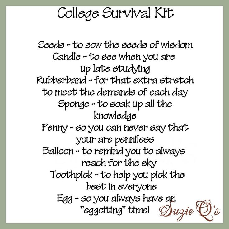 College Survival Kit includes Topper and Card  by SuzieQsCrafts, $1.50