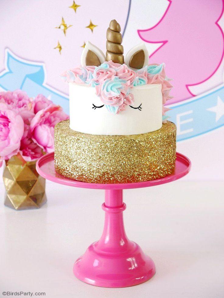 Recette Gâteau d'Anniversaire Licorne - apprendre à faire ce gâteaux magnifique pour un goûter d'anniversaire fille! C'est super facile et ludique!