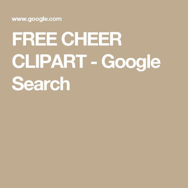 FREE CHEER CLIPART - Google Search