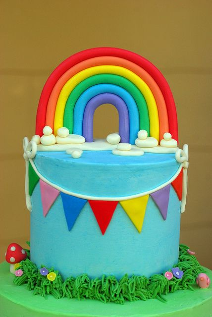 17 Best Images About Rainbow Cakes On Pinterest Pinata