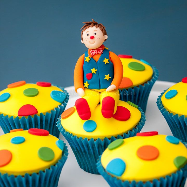 We've granted lots of wishes for children who want to meet Mr Tumble. Love these cupcakes inspired by him!