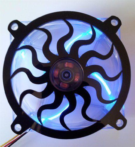 Custom Acrylic Sun Spiral Computer Fan Grill 140mm
