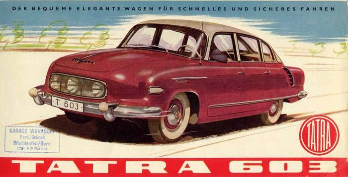 Tatra car advertising, Czechoslovakia