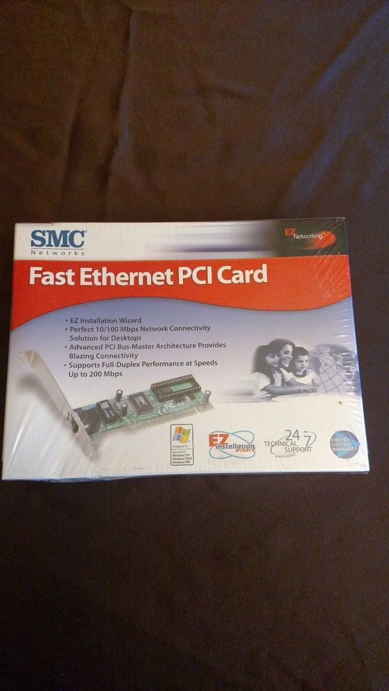 SMC Networks Fast Ethernet 10/100 PCI Card SMC1244TX New in Box #SMCNetworks
