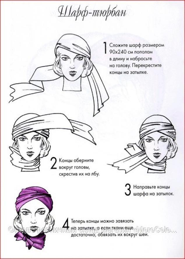 как правильно завязывать платок на голову - Болезни шеи - домашний доктор